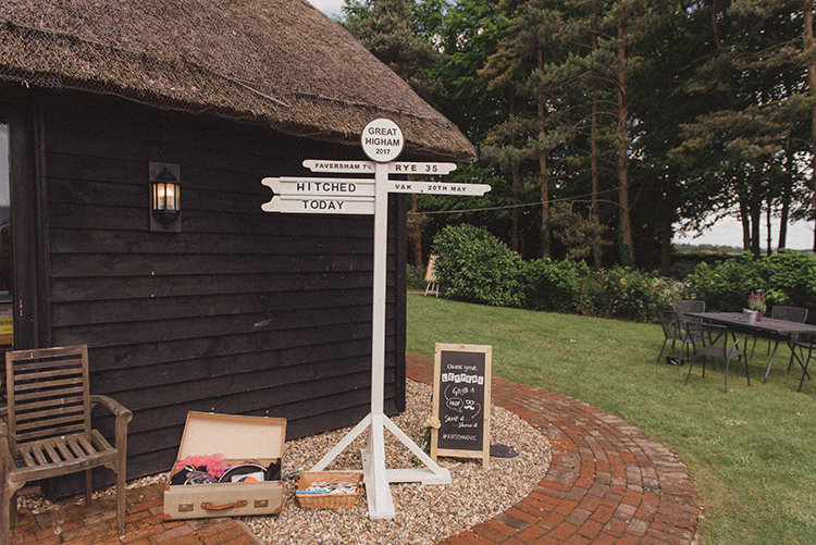 Sign Post Wooden Direction DIY Rustic Woodland Marquee Wedding http://www.rebeccadouglas.co.uk/