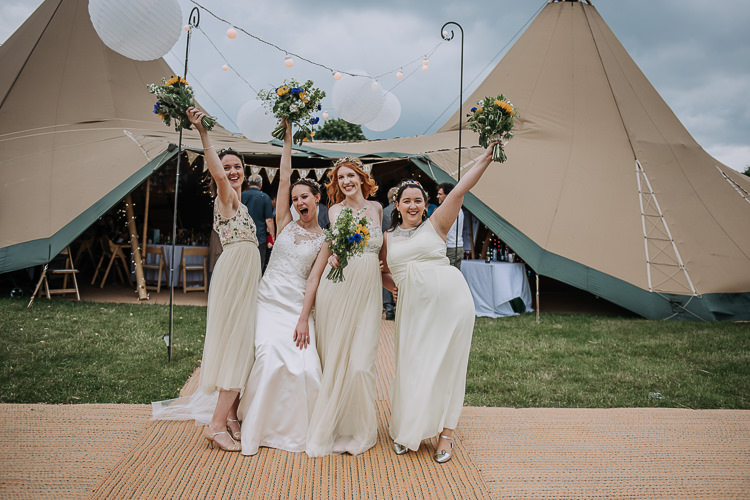Mismatched Yellow Bridesmaid Dresses DIY Outdoor Tipi Vineyard Wedding http://www.kazooieloki.co.uk/