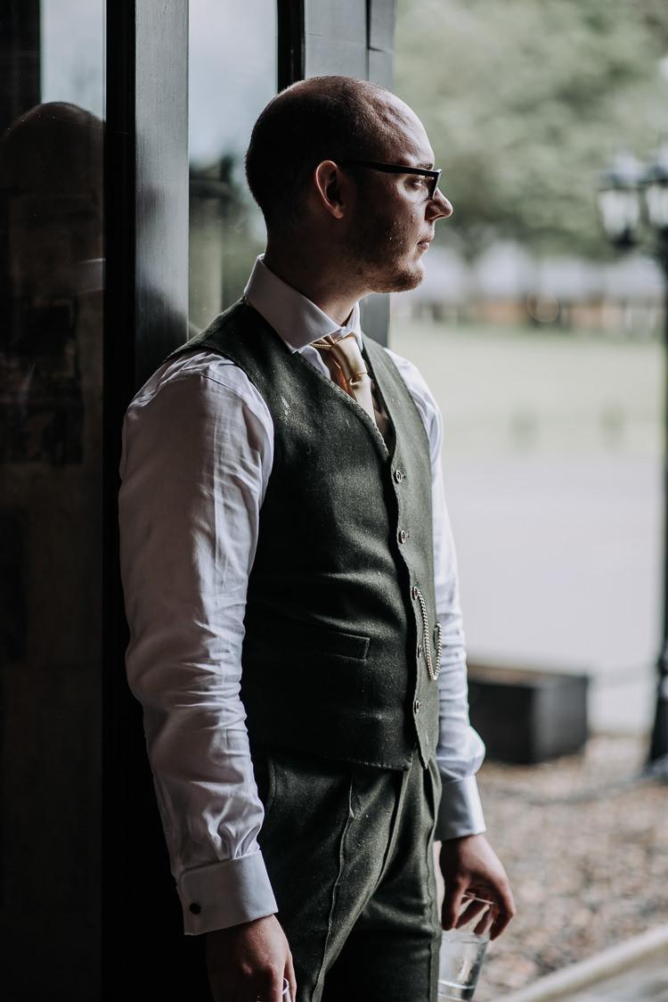 Green Suit Yellow Tie Waistcoat Groom DIY Outdoor Tipi Vineyard Wedding http://www.kazooieloki.co.uk/