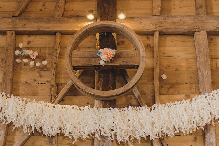 Rag Bunting Decor Garland Relaxed Home Made Love Barn Wedding http://www.rebeccadouglas.co.uk/
