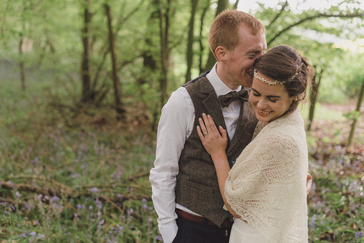 Bride Bridal Knitted Shawl Relaxed Home Made Love Barn Wedding http://www.rebeccadouglas.co.uk/