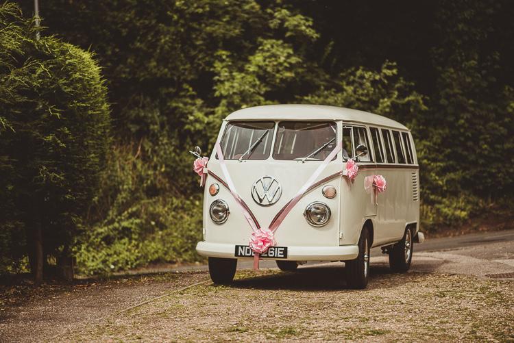 VW Campervan Volkswagen Ribbon Transport Enchanting Woods Inspired Country Wedding http://alexapenberthy.com/