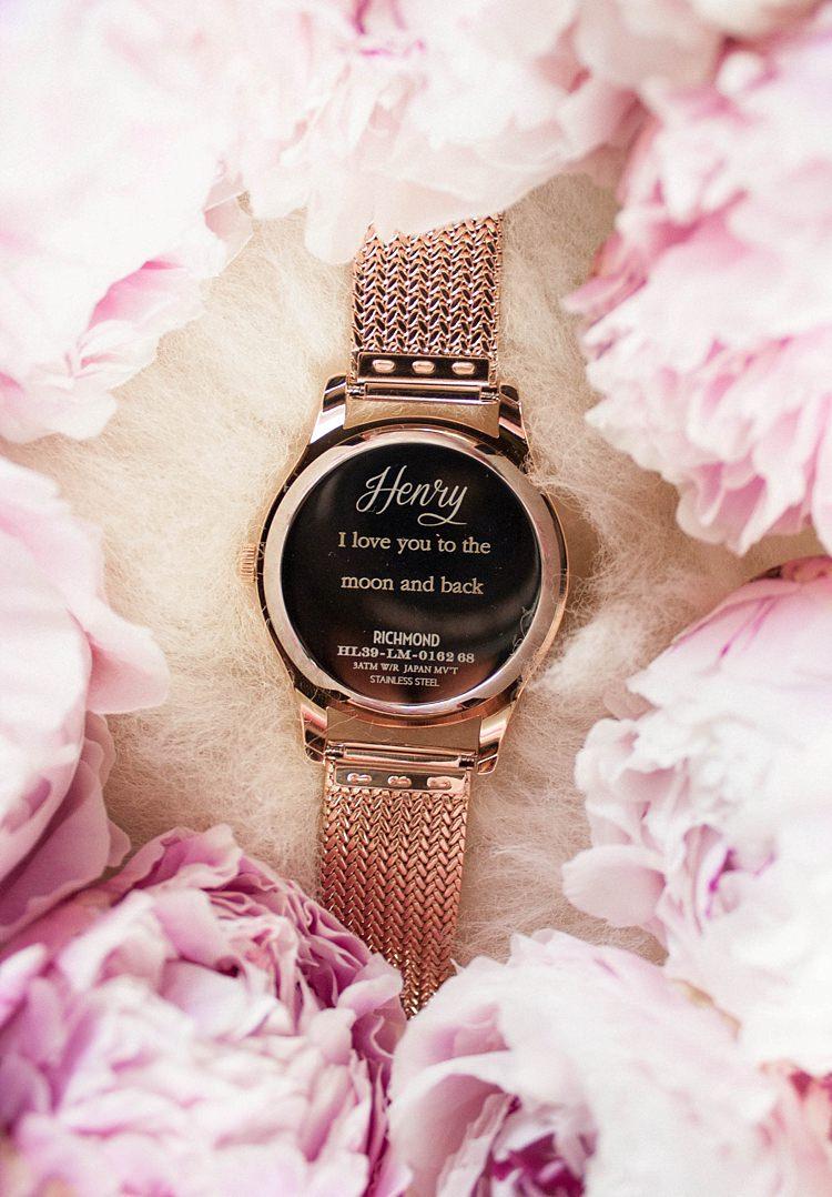 Wedding Gift Present Idea Bride Bridal Bridesmaids Groom Watch Henry London UK Engraved