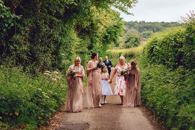Pink ASOS Bridesmaids Flower Girl Shawl Wrap Humanist Hand Made Orchard Garden Wedding http://www.curiousrosephotography.com/