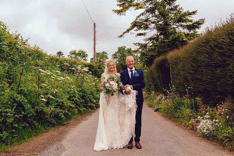 Bride Bridal Maggie Sottero Dress Gown Embroidery Overlay Bouquet Peonies Humanist Hand Made Orchard Garden Wedding http://www.curiousrosephotography.com/