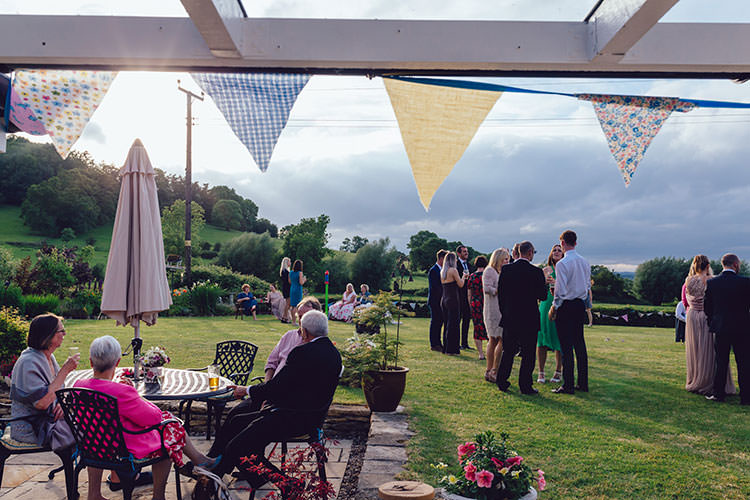 Reception Outdoor Bunting Humanist Hand Made Orchard Garden Wedding http://www.curiousrosephotography.com/