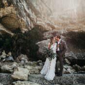 Whimsical Greenery Wedding Ideas by the Sea