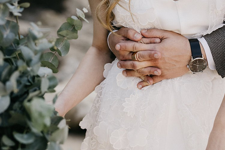 Bride Groom Hands Whimsical Greenery Wedding Ideas Sea http://eglejo.lt/