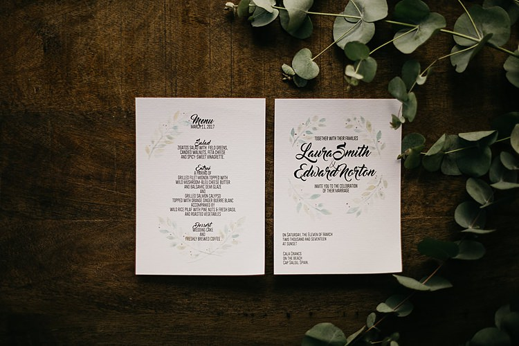 Stationery Whimsical Greenery Wedding Ideas Sea http://eglejo.lt/