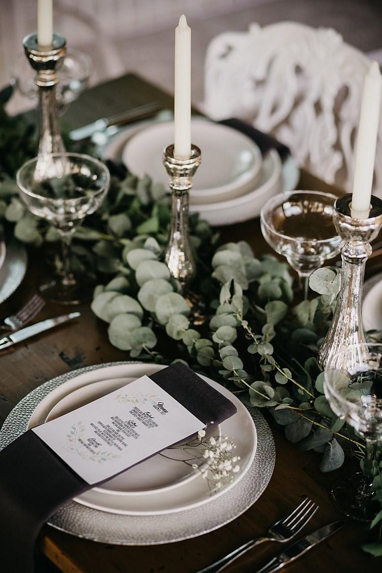Table Decor Candles Whimsical Greenery Wedding Ideas Sea http://eglejo.lt/