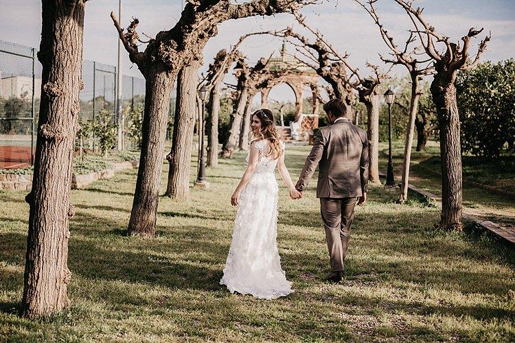 Trees Bride Groom Whimsical Greenery Wedding Ideas Sea http://eglejo.lt/