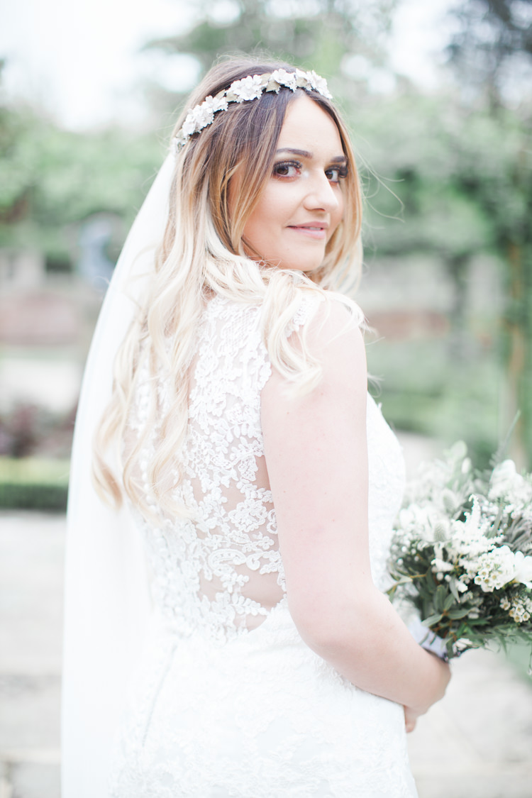 Long Hair Bride Bridal Ombre Wavy Beautifully Authentic Rustic Country House Wedding https://www.nikkismoments.com/