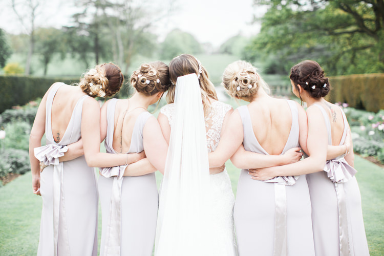 Lilac Grey Bridesmaid Dresses Sash Bow Beautifully Authentic Rustic Country House Wedding https://www.nikkismoments.com/
