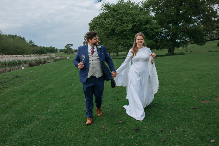 Bespoke Groom Bride Bridal Vintage Dress Gown Mum's Mother's Bell Sleeves Outdoor Farm Wedding 1970s Dress https://www.magdak.co.uk/