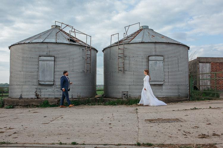 Bride Bridal Dress Gown Vintage Mum's Bespoke Groom Outdoor Farm Wedding 1970s Dress https://www.magdak.co.uk/