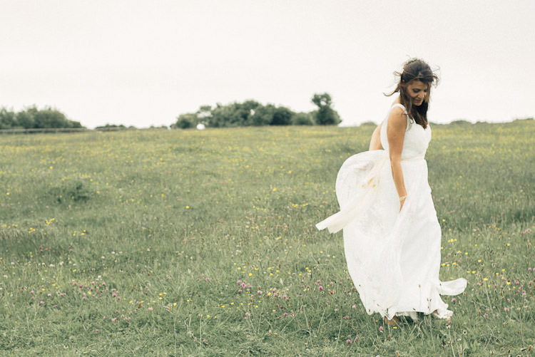Bride Bridal Charlie Brear Gown Dress Overlay Sleeveless Sash Fun Laid Back DIY Rustic Marquee Wedding http://www.louisegriffinphotography.com/