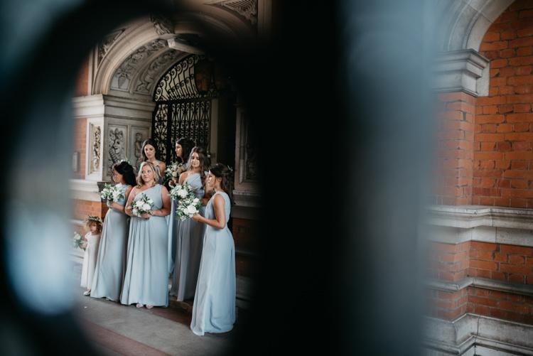 Pale Blue Grey Long Bridesmaid Dresses Boho Fun Loving University Wedding http://andrewbrannanphotography.co.uk/