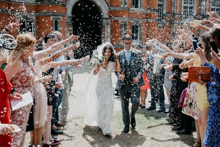 Confetti Throw Boho Fun Loving University Wedding http://andrewbrannanphotography.co.uk/