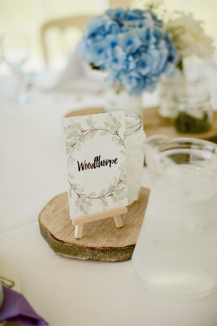 Table Name Botanical Easel Mini Nostalgic Playful Greenery Floral Garden Wedding http://jesspetrie.com/