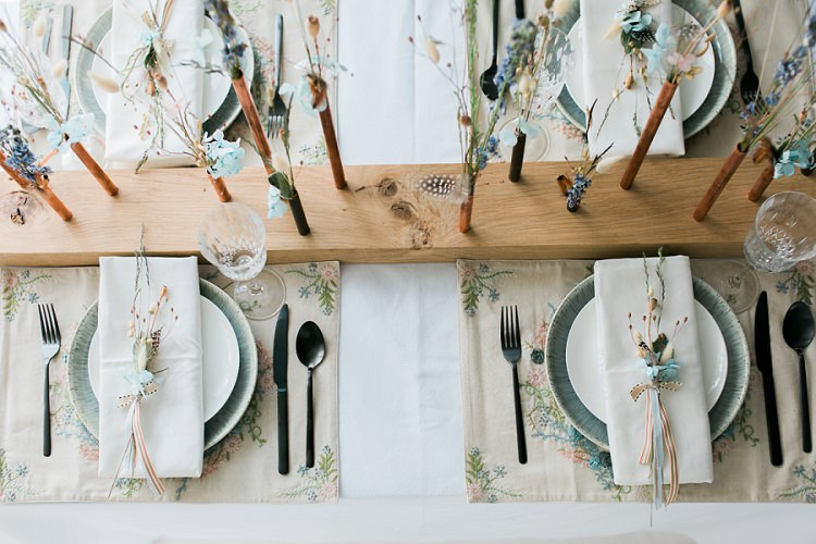 Place Setting Table Decor Tablescape Floral Placemats Flowers Bohemian Natural Wedding Ideas http://www.sarahjanesphotography.com/