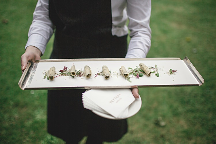 Canapes Colourful Home Made Vintage City Wedding http://kat-hill.com/