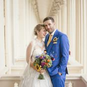 Colourful Home Made Vintage City Wedding