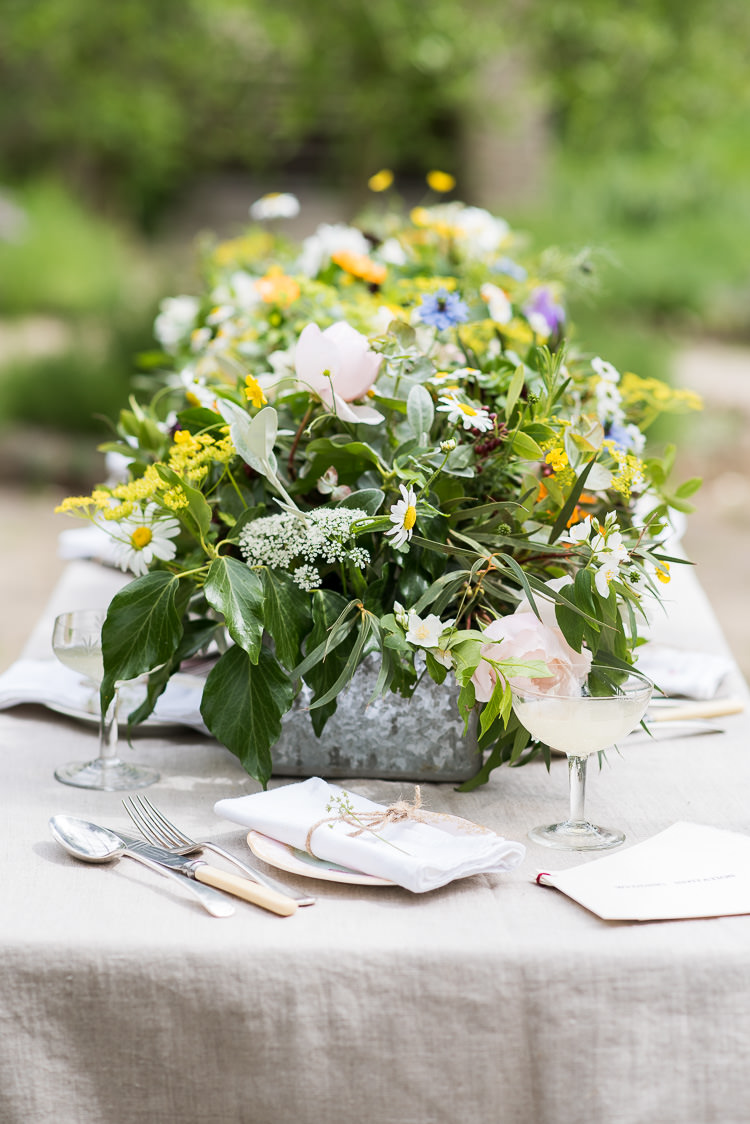 Berries Greenery Gypsophila Michaelmas Daisies Rose Coupe Glass Babycham Vintage China Twine Pretty Urban Nature Wedding Ideas http://www.fionasweddingphotography.co.uk/