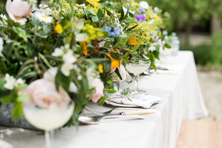 Berries Greenery Gypsophila Daisies Coupe Glass Babycham Vintage China Twine Pretty Urban Nature Wedding Ideas http://www.fionasweddingphotography.co.uk/