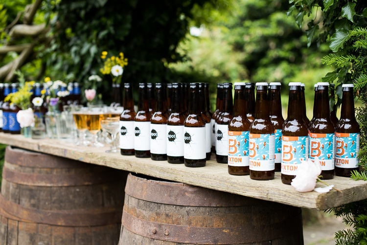 Barrel Table Inkspot Brewery Beer Vintage Glass Bottle Pretty Urban Nature Wedding Ideas http://www.fionasweddingphotography.co.uk/