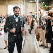 Whimsical Wedding by the Sea & a Rustic Barn Reception
