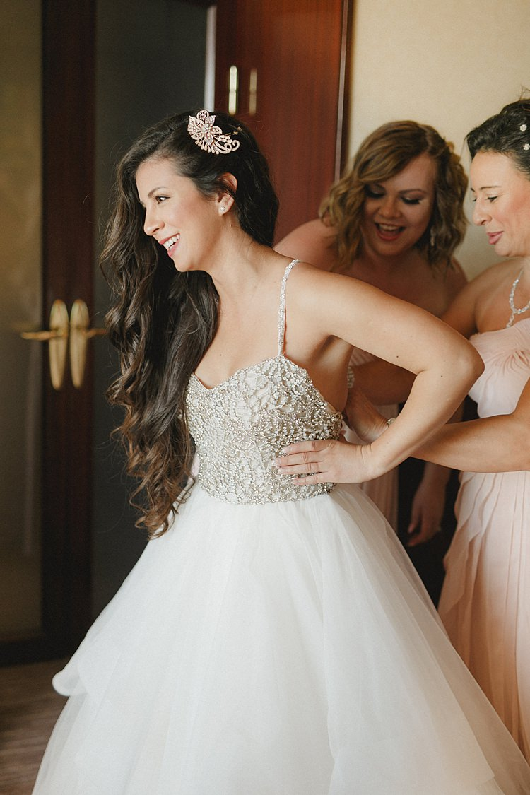 Bride Getting Ready Dress Whimsical Pastel Key West Beach Wedding http://kristenbooth.net/