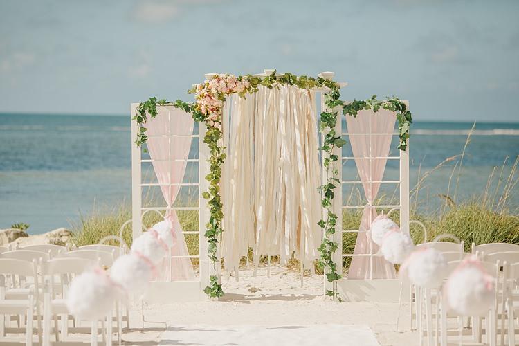 Ceremony Whimsical Pastel Key West Beach Wedding http://kristenbooth.net/