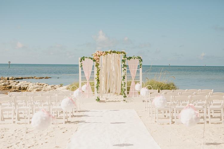 Ceremony Aisle Whimsical Pastel Key West Beach Wedding http://kristenbooth.net/