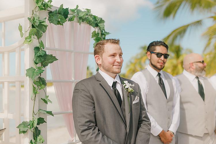 Groom Ceremony Whimsical Pastel Key West Beach Wedding http://kristenbooth.net/