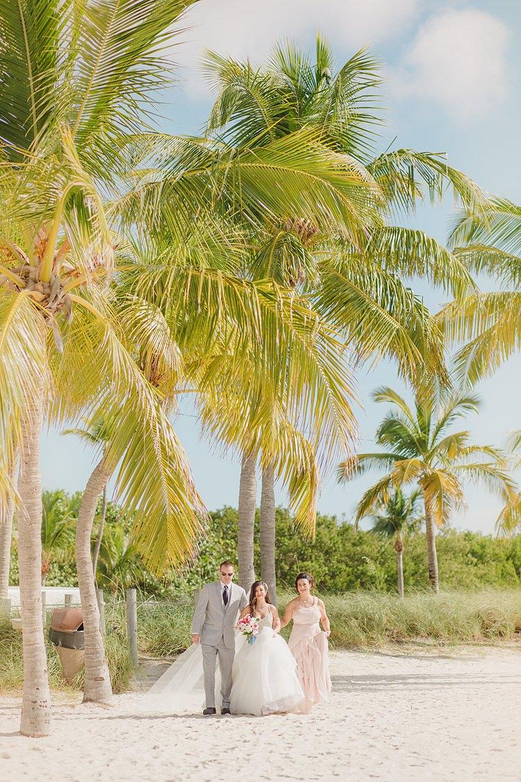 Bride Palm Trees Whimsical Pastel Key West Beach Wedding http://kristenbooth.net/