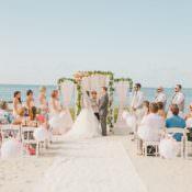 Whimsical Pastel Key West Beach Wedding