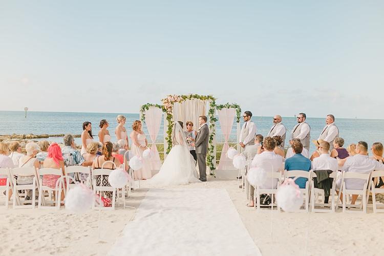 Bride Groom Ceremony Outdoors Whimsical Pastel Key West Beach Wedding http://kristenbooth.net/