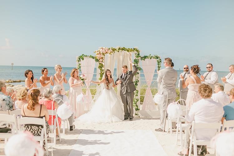 Bride Groom Ceremony Whimsical Pastel Key West Beach Wedding http://kristenbooth.net/