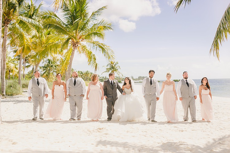 Wedding Party Palm Trees Whimsical Pastel Key West Beach Wedding http://kristenbooth.net/