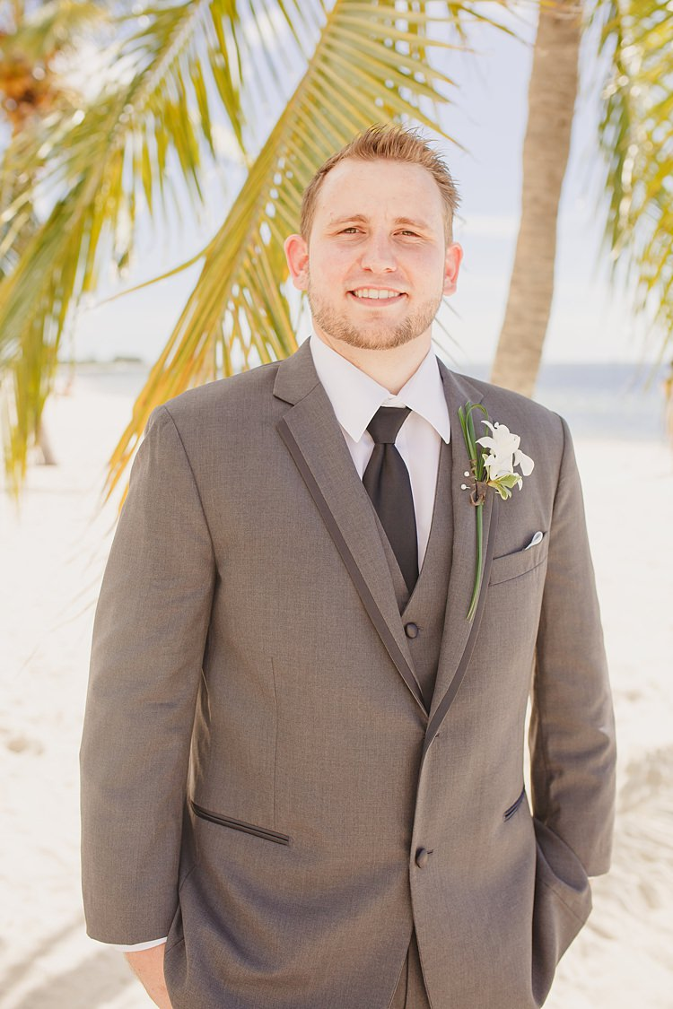 Groom Whimsical Pastel Key West Beach Wedding http://kristenbooth.net/