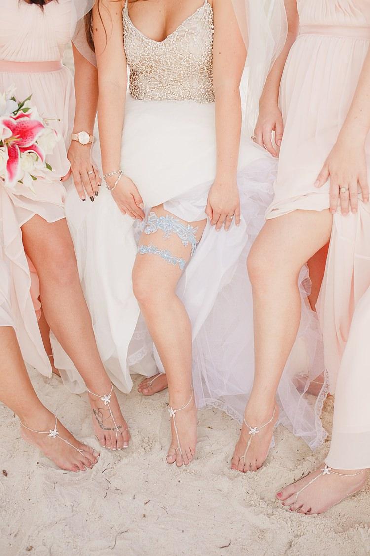 Bride Garter Whimsical Pastel Key West Beach Wedding http://kristenbooth.net/