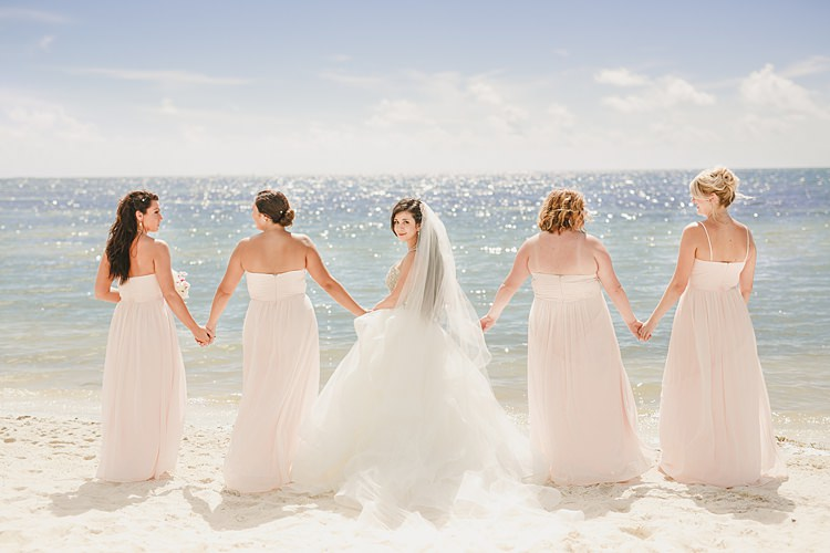 Bride Bridesmaids Whimsical Pastel Key West Beach Wedding http://kristenbooth.net/
