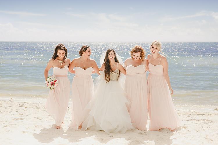 Bride Bridesmaids Sea Whimsical Pastel Key West Beach Wedding http://kristenbooth.net/