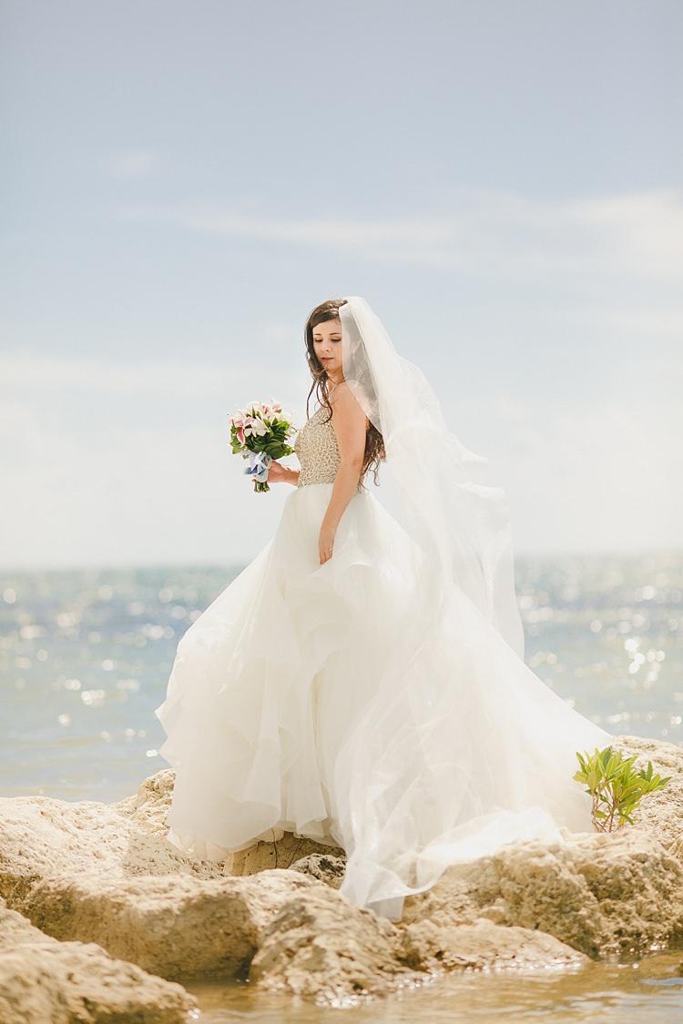 Bride Rocks Sea Whimsical Pastel Key West Beach Wedding http://kristenbooth.net/