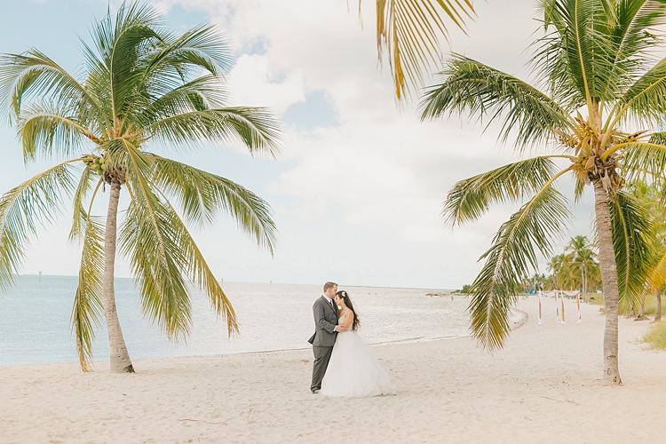 Bride Groom Palm Trees Whimsical Pastel Key West Beach Wedding http://kristenbooth.net/