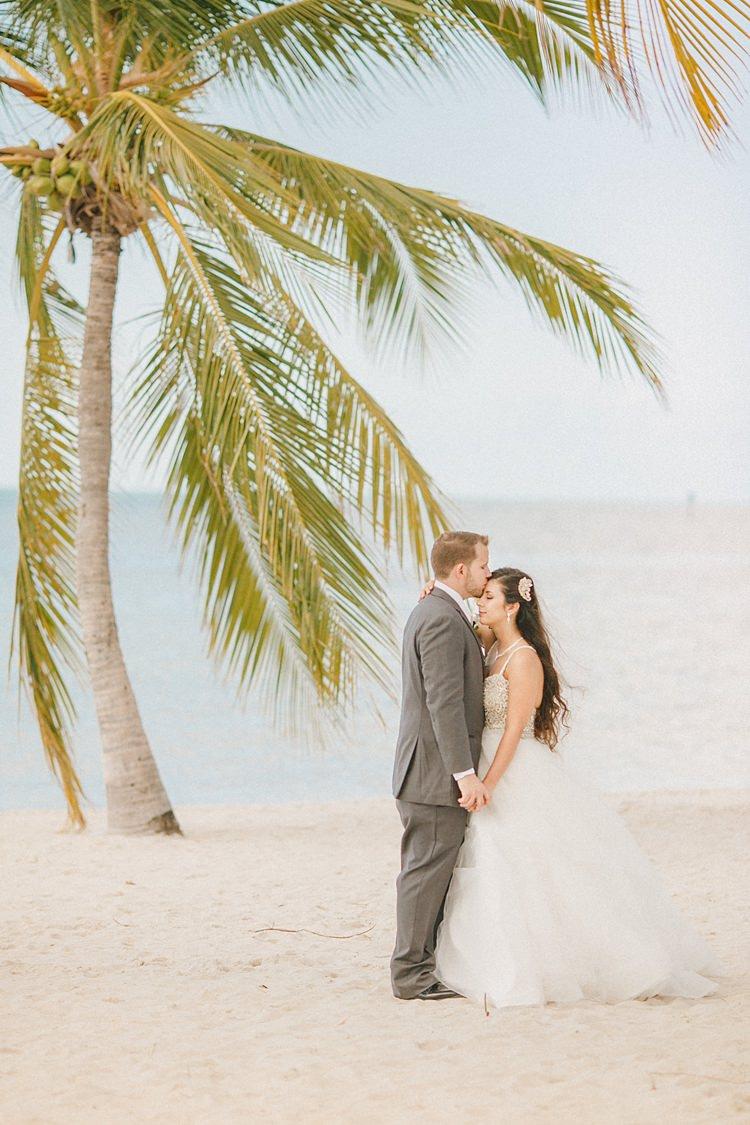 Bride Groom Beach Palm Tree Whimsical Pastel Key West Beach Wedding http://kristenbooth.net/