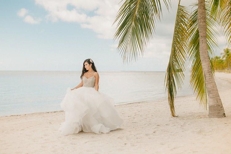 Bride Palm Tree Whimsical Pastel Key West Beach Wedding http://kristenbooth.net/