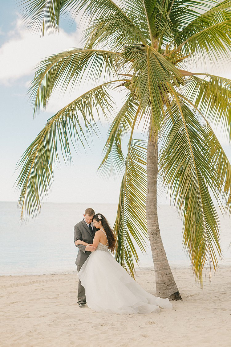 Bride Groom Palm Tree Whimsical Pastel Key West Beach Wedding http://kristenbooth.net/