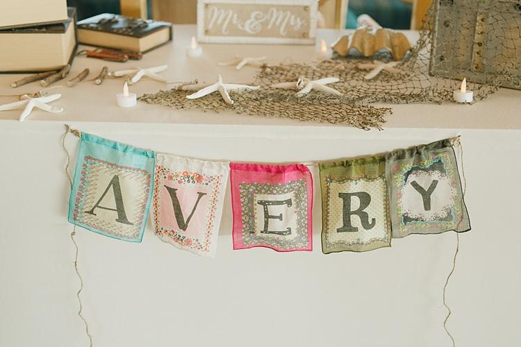Surname Bunting Whimsical Pastel Key West Beach Wedding http://kristenbooth.net/