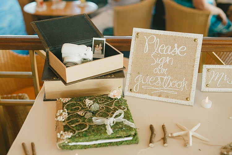 Polaroid Guestbook Whimsical Pastel Key West Beach Wedding http://kristenbooth.net/